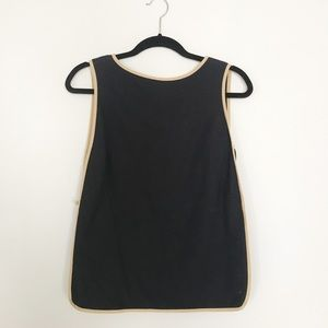 Trademark Top with Camel Colored Detailing